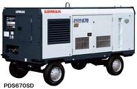 北越工業 (AIRMAN) PDS670SD-4C5 エンジンコンプレッサ ドライエア仕様