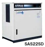 北越工業 (AIRMAN) SAS22SD-5E スクリュコンプレッサ 空冷タイプ 50Hz