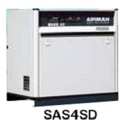 北越工業 (AIRMAN) SAS4SD-5C スクリュコンプレッサ 空冷タイプ 50Hz