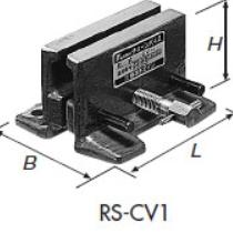 チェーンバイス(チェーン受け台)椿本チェイン製RS-CV1適用チェーンRS40~80 1列用RS40 2列用L=100 H=65 B=94~115