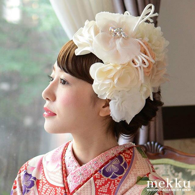 和装 フラワーヘッドドレス・カチューシャ[ha001]