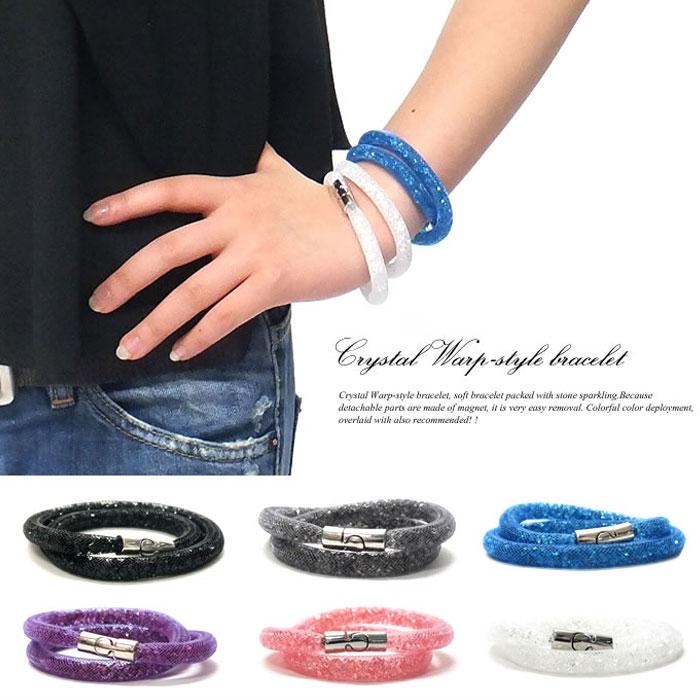 to Rakuten third acquisition ☆ Stardust double Bracelet Crystal warp style bracelet  Swarovski SWAROVSKI Crystal Wrap Bracelet Miranda is a favorite! 529e3f35cb24