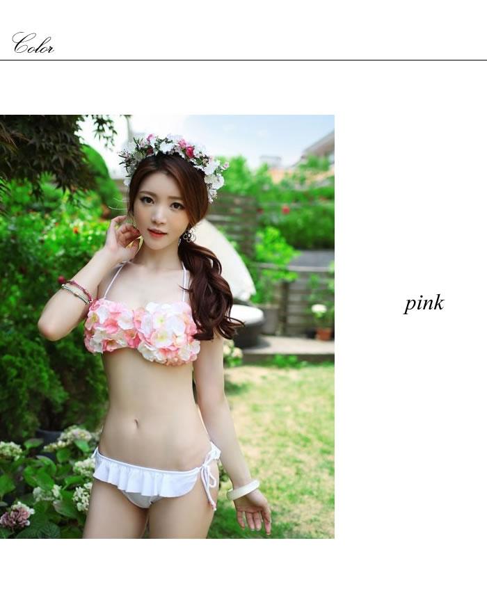 花瓣絲壯年比基尼燕尾服類型川 Pisamai chuanpizamic 花瓣花花卉泳裝女士進口花卉