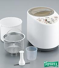 ツインバード:コンパクト精米器精米御膳/MR-E500-Wホワイト