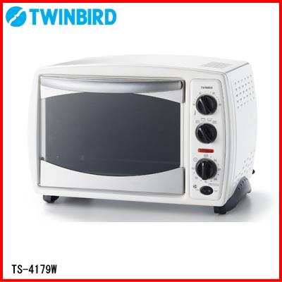 ツインバード:ノンフライオーブン(ホワイト)/TS-4179W