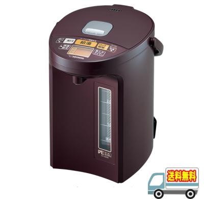 象印:マイコン沸とうVE電気まほうびん『優湯生』3.0L(ボルドー)/CV-GS30-VD