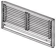 三菱電機部品:壁埋込形用前面グリル/MAC-626TGエアコン用
