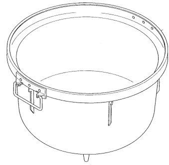 パロマ部品:釜組立(フッ素) 10ADF/028802600炊飯器用