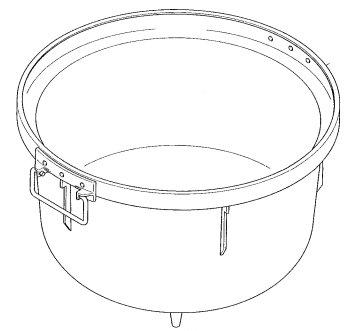 パロマ部品:釜組立(フッ素) 6ADF/028862600炊飯器用