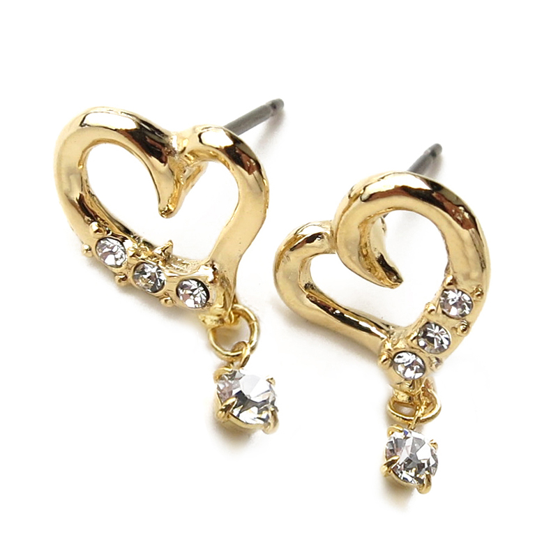 The fall and winter when hoop pierced earrings drop pierced earrings catch  type pierced earrings stud bolt pierced earrings heart gold titanium which
