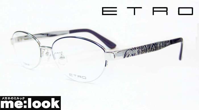 <title>国内正規品 ETRO エトロレディース眼鏡 メガネ 《週末限定タイムセール》 フレームET2501J-044-53 度付可シルバー パープル</title>