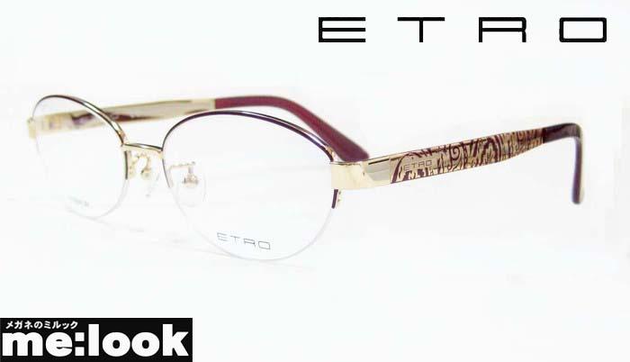 ETRO エトロレディース眼鏡 メガネ フレームET2501J-720-53 度付可ゴールド/ワインパープル