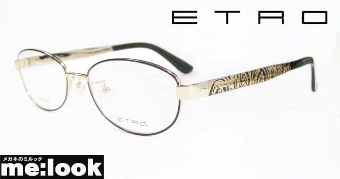 <title>国内正規品 ETRO エトロレディース眼鏡 メガネ フレームET2502J-710-52 度付可ゴールド 国内正規総代理店アイテム ブラウン</title>