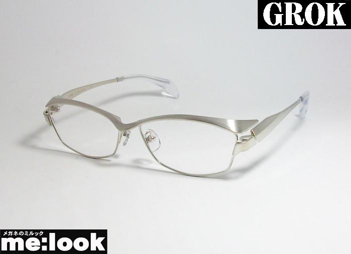 国内正規品 GROK グロック日本製 Made in お気に入り メガネ フレームGR1981-2-58 シルバー度付可 年中無休 Japan眼鏡