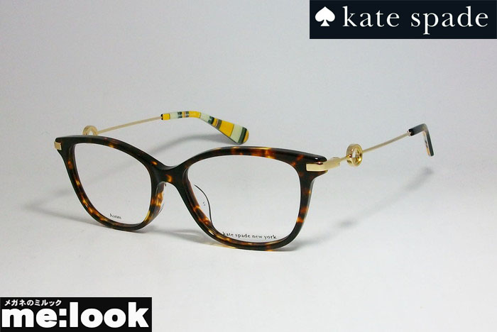 国内正規品 お買い得 kate 希少 spade ケイトスペード レディースクラシック ボストン眼鏡 サイズ52 ゴールド メガネ F-086 度付可ブラウンデミ フレームEVERETTA