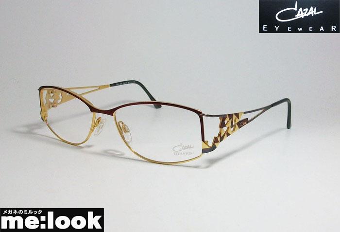 Cazal カザール眼鏡 メガネ フレームCZ 1040-001 54サイズ度付可 ゴールド パープル