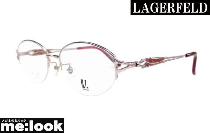 国内正規品 LAGERFELD 再入荷 予約販売 ラガーフェルド レディース純国産 チタン婦人 レディース眼鏡 サイズ53 度付可ピンク メガネ 爆買いセール フレーム88-0108-01