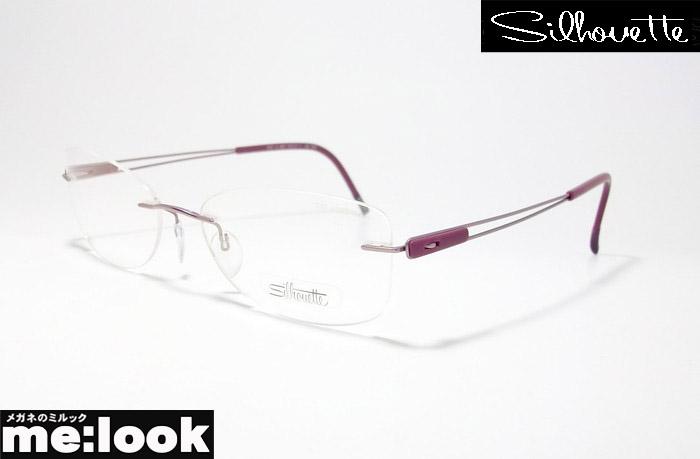 Silhouette シルエット眼鏡 メガネ フレームレス軽量 メガネ フレーム6767-53-6057 サイズ53度付可 マットパープル 縁なし