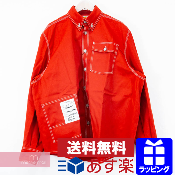 new design united kingdom outlet VETEMENTS X Carhartt 2017SS MSS17CW4 ヴェトモン X car heart over size work shirt  jacket red size XS present gift