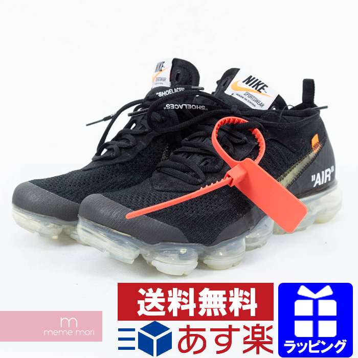 299e8c0eb8b OFF-WHITE X NIKE THE 10 AIR VAPORMAX FLYKNIT AA3831-002 off-white X Nike  air vapor max fried food knit low-frequency cut sneakers black size  US7(25cm) ...