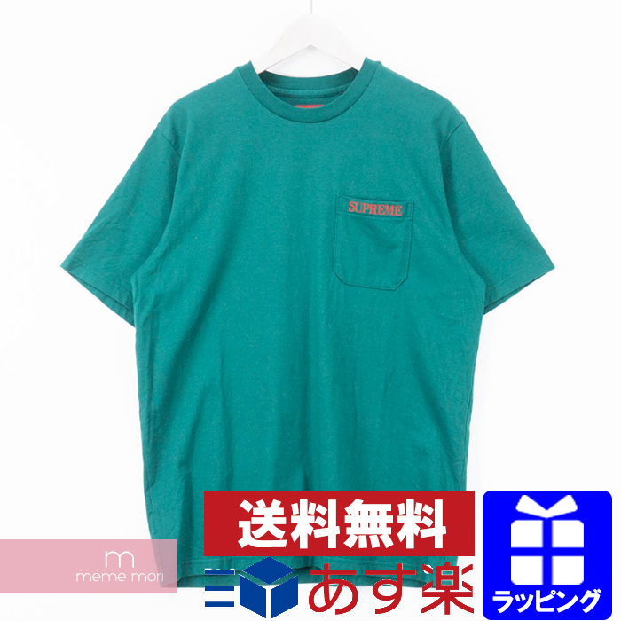 6bfc6b496509 Supreme 2018AW Embroidered Pocket Tee シュプリームエンブロイダードロゴポケット T-shirt  embroidery short ...