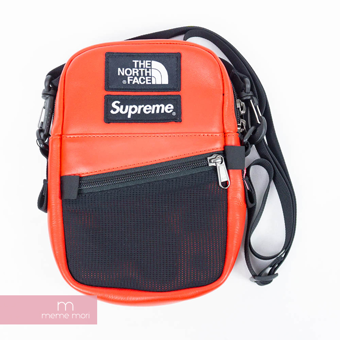 f9421405eaa Supreme X THE NORTH FACE 2018AW Leather Shoulder Bag シュプリーム X North Face  leather shoulder bag red present gift