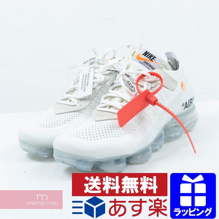 OFF WHITE X NIKE THE 10 AIR VAPORMAX FLYKNIT AA3831 100 off white X Nike air vapor max fried food knit low frequency cut sneakers white size US9(27cm)