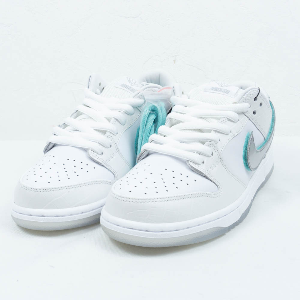 new concept 22302 cd3e2 NIKE SB DUNK LOW PRO OG QS DIAMOND BV1310-100 Nike dunk low pro diamond  low-frequency cut sneakers white X Tiffany blue size US9(27cm) present gift