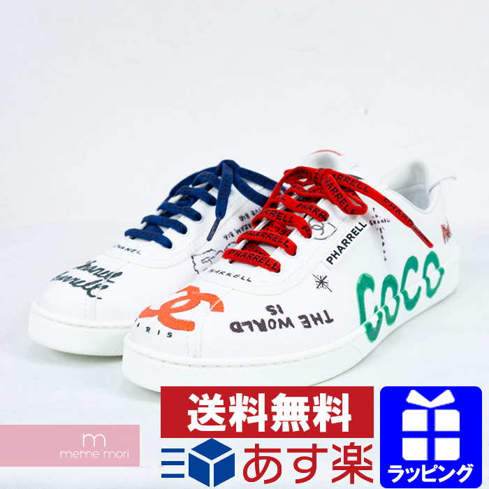 wholesale dealer eebd4 63c46 CHANEL X Pharrell Williams 2019SS Sneakers G34878 X53027 C2340 10B Chanel X  Farrell Williams graffiti sneakers low-frequency cut paint here mark ...