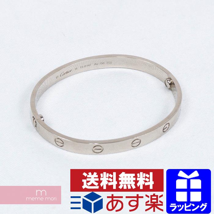 abc37b49adb36 Cartier LOVE BRACELET B6035418 18K Au750 Cartier love bracelet bangle  accessories white gold size 18 present gift