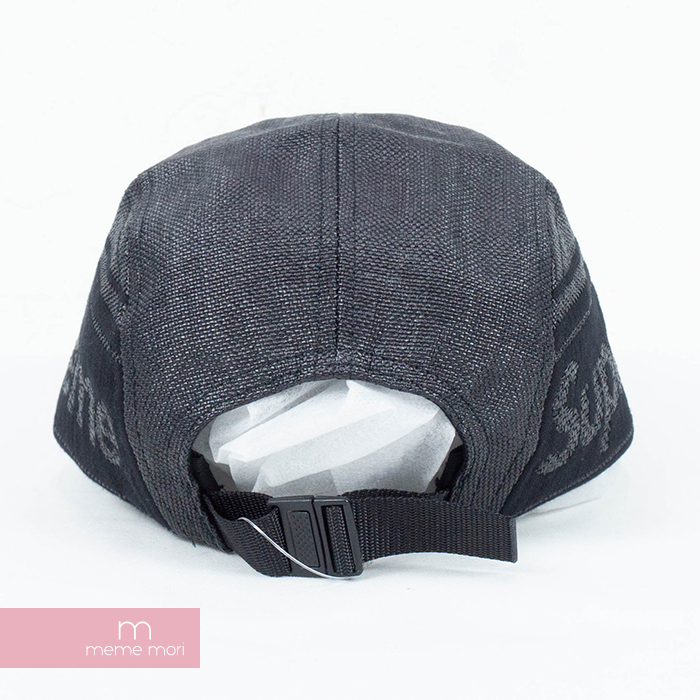 d0e5f88e9 Supreme 2019SS Raffia Woven Logo Camp Cap シュプリームラフィア texture side logo  camping cap straw black present gift