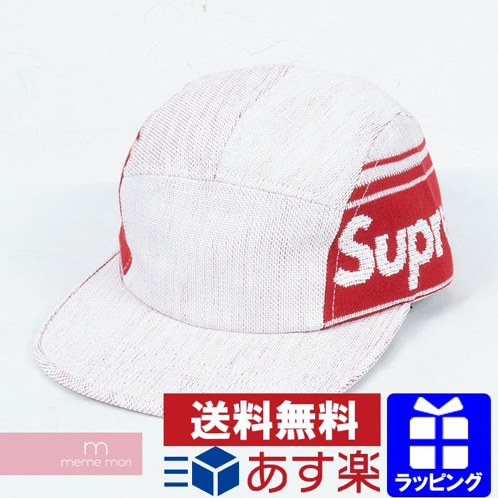 e1da3a230 Supreme 2019SS Raffia Woven Logo Camp Cap シュプリームラフィア texture side logo  camping cap straw white X red present gift