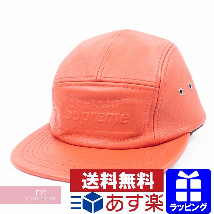 Supreme 2019SS Pebbled Leather Camp cap シュプリーム ペブルドレザーキャンプキャップ スナップバック キャップ 帽子 レッド プレゼント ギフト【190717】【新古品】