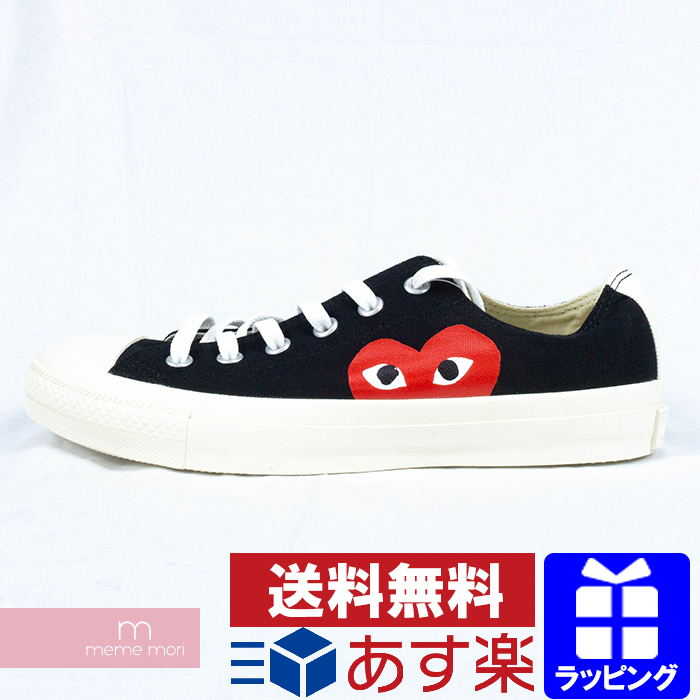 good looking cozy fresh price reduced PLAY COMME des GARCONS X CONVERSE CHUCK TAYLOR ALL STAR 1CK712 プレイコムデギャルソン  X Converse zipper Taylor all-stars low-frequency cut sneakers canvas black  ...