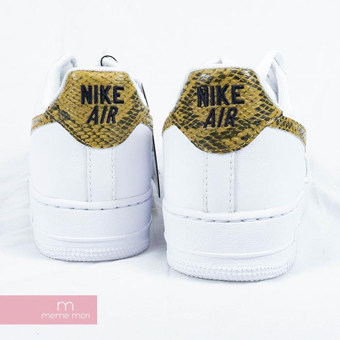 NIKE AIR FORCE 1 LOW RETRO PRM QS WhiteElemental Gold AO1635 100 air force 1 Lorre fatty tuna premium quick strike sneakers shin Iku snake pattern