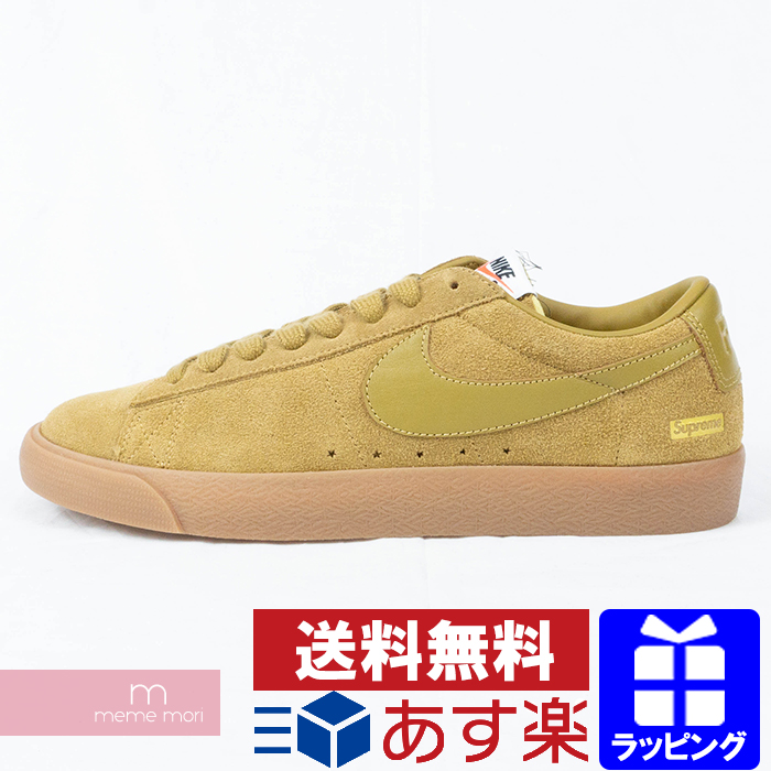 sale retailer 2a802 2c362 Supreme X NIKE 2016AW NIKE SB BLAZER LOW GT QS 716,890-229 シュプリーム X Nike  Nike SB ブレーザー GT QS low-frequency cut suede cloth sneakers brown size ...