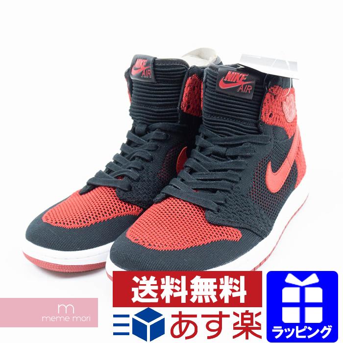 cheaper 57fbb 101e2 NIKE AIR JORDAN 1 RETRO HIGH FLYKNIT BRED 919,704-001 Nike Air Jordan 1  nostalgic high fried food knit bread black X red size US9(27cm) present gift