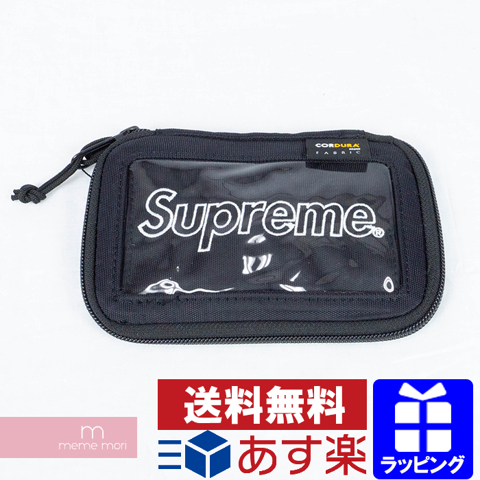 Supreme 2019AW Small Zip Pouch シュプリーム スモールジップポーチ 小物入れ パスケース Wallet ウォレット ミニバッグ ブラック プレゼント ギフト【200401】【新古品】
