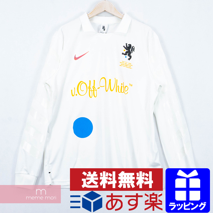 best website d5e4d 7d091 OFF-WHITE X NIKE 2018SS Football Collection Football Jersey Home AA3300-100  off-white X Nike football home jersey long sleeves polo shirt Ron T white  ...