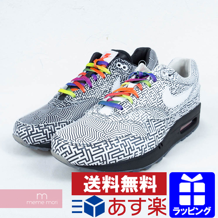 NIKE 2019SS AIR MAX 1 ON AIR TOKYO MAZE CI1505 001 Kie Ney AMAX 1 airing Tokyo Maize low frequency cut sneakers black X white size US9(27cm) present