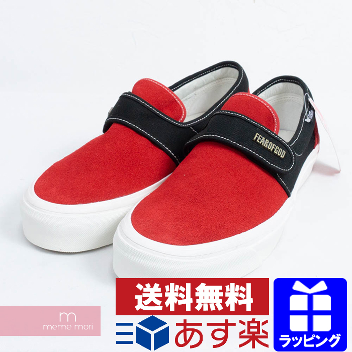 965ed1f3 FEAR OF GOD X VANS Slip-On 47V DX VN0A3J9FPQR Fear of god X vans Velcro  slip-ons low-frequency cut sneakers black X red size US9.5(27.5cm) present  ...