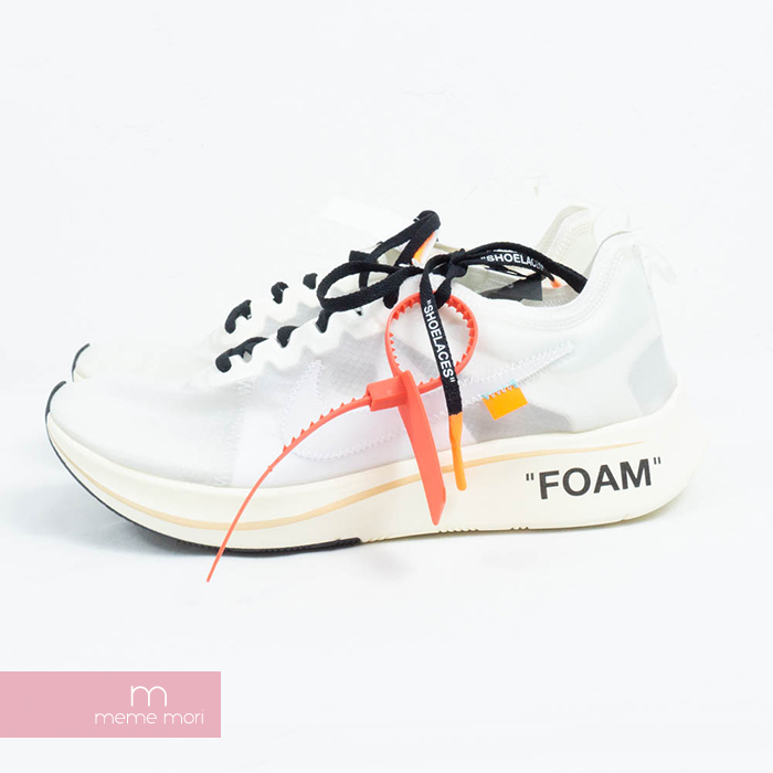 1445fc810161d OFF-WHITE X NIKE THE 10 ZOOM FLY OG AJ4588-100 off-white X Nike zoom fly  low-frequency cut sneakers initial model white size US10(28cm) present gift