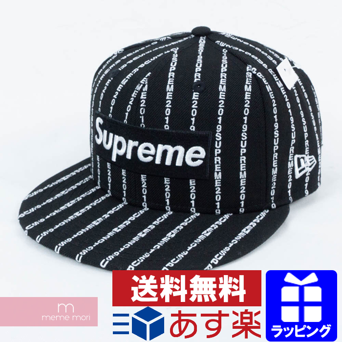 34dd71a6 Supreme X New Era 2019SS Text Stripe New Era Cap シュプリーム X new gills text  stripe ...