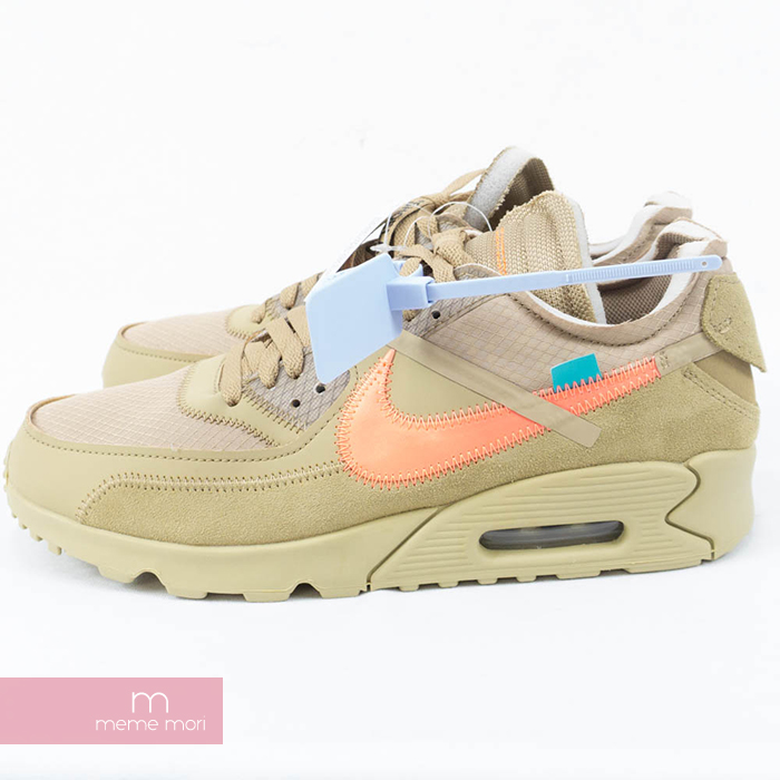 OFF WHITE X NIKE THE 10 AIR MAX 90 Desert Ore AA7293 200 off white X Kie Ney AMAX 90 low frequency cut sneakers beige size US9.5(27.5cm) Father's Day