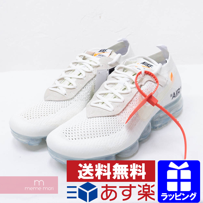 wholesale dealer d25cc 4951f OFF-WHITE X NIKE THE 10 AIR VAPORMAX FLYKNIT AA3831-100 off-white X Nike  air vapor max fried food knit low-frequency cut sneakers white size ...