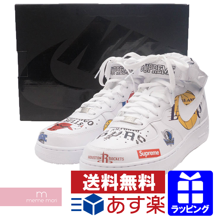 buy popular f1355 d8385 Supreme X NIKE 2018SS NBA Teams Air Force 1 MID '07 AQ8017-100 シュプリーム X  Nike air force 1 sneakers shoes shoes white present gift