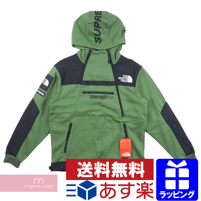 fa398b64859 Supreme X THE NORTH FACE 2016SS Steep Tech Hooded Sweatshirt シュプリーム X North  Face steep technical center hooded sweat shirt parka green size S present  ...