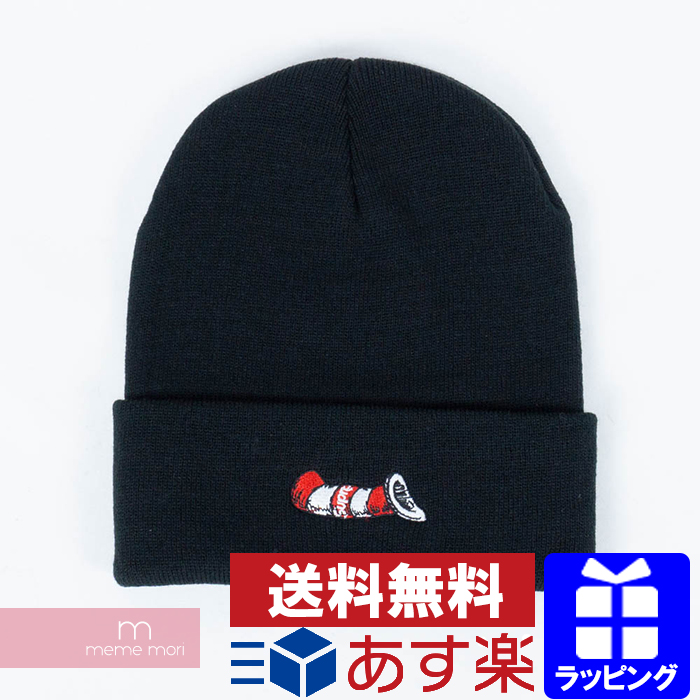 Supreme 2018AW Cat in the Hat Beanie シュプリームキャットインザハットビーニーニット hat black  Father's Day present gift