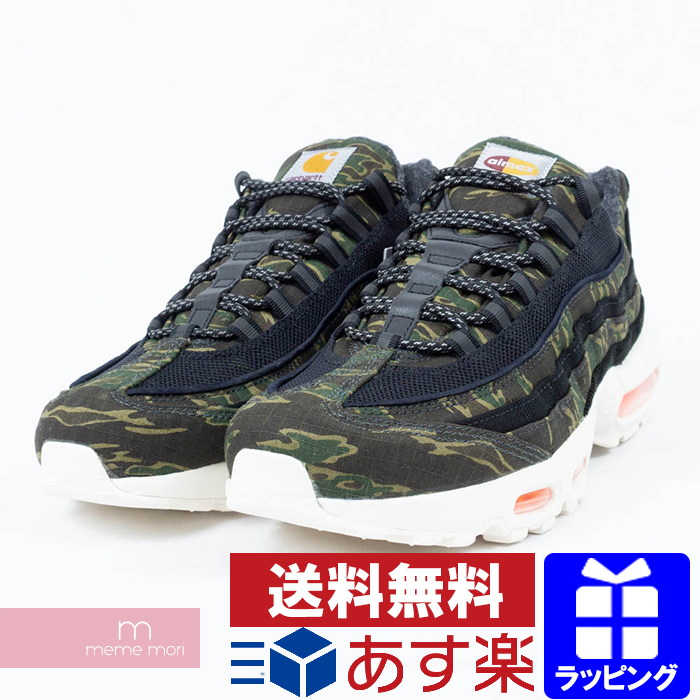 watch f55dd b76a8 NIKE X Carhartt 2018AW AIR MAX 95 WIP AV3866 001 Nike X car heart Air Max  95 high technology sneakers camouflage duck size US9(27cm) present gift