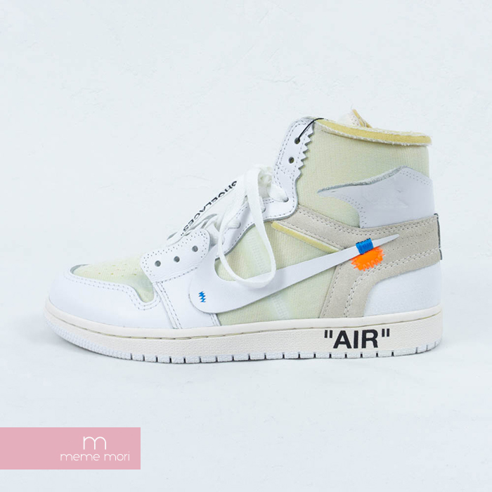 cb324cb88226 OFF-WHITE X NIKE 2018SS AIR JORDAN 1 NRG AQ8296-100 VIRGIL ABLOH off-white  X Nike air Jordan 1 higher frequency elimination sneakers EU-limited white  size ...
